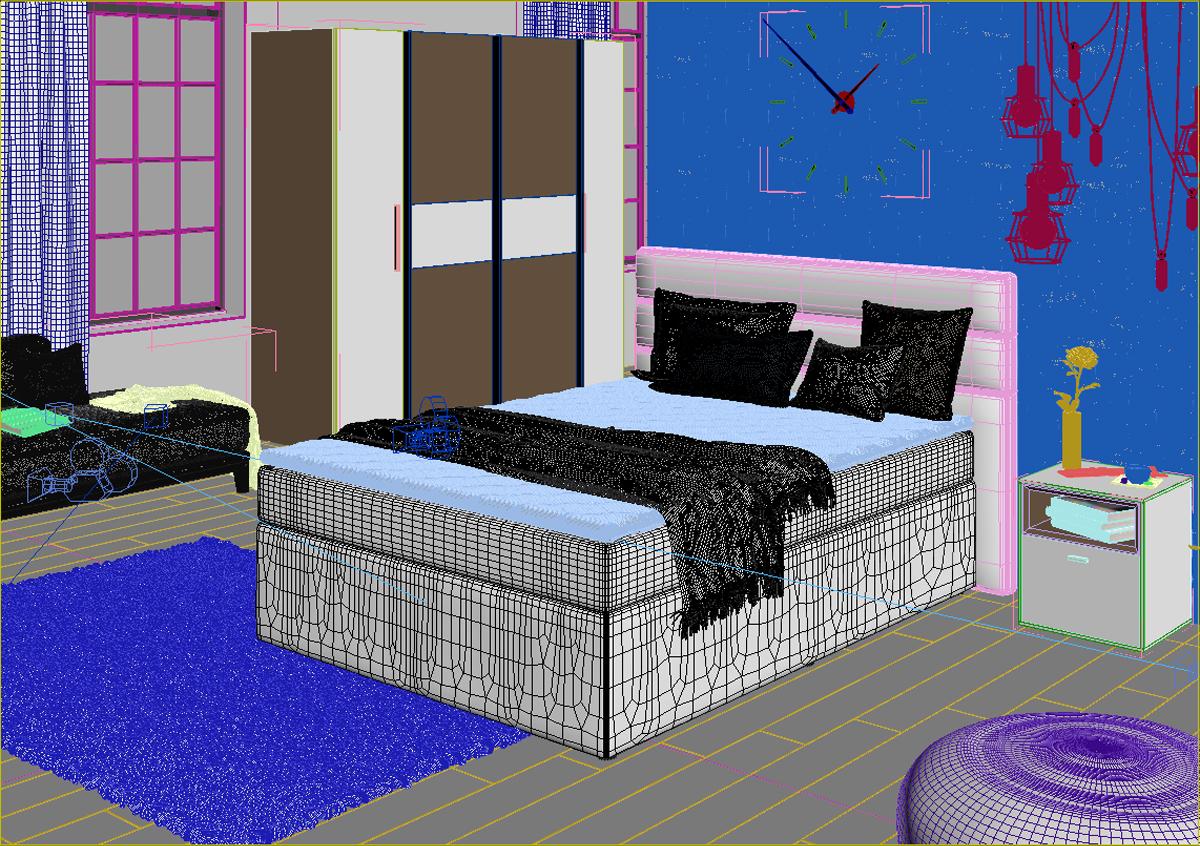 3D-Design Schlafzimmer